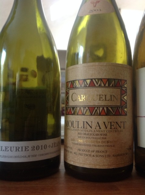 Beaujolais aged and new